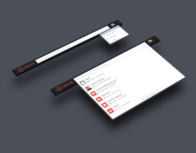 CMPLAIN Navigation & Search Bar