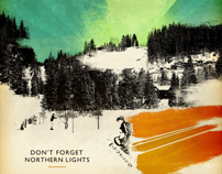 Dont Forget Northern Lights poster | Iso50 inspired