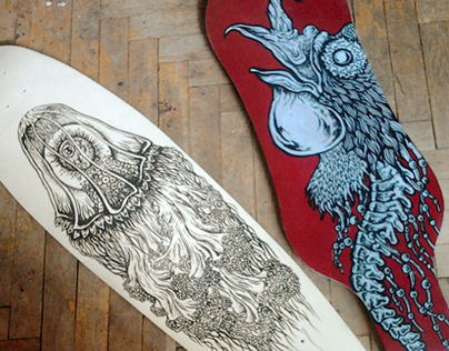 Insane Boards hand painted decks