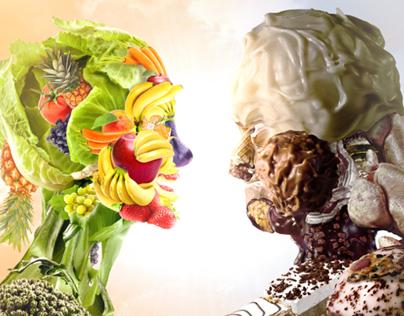 Vegetables VS Junk