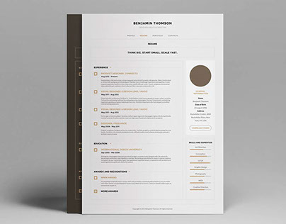 Connecto — Modern vCard/Resume PSD Template