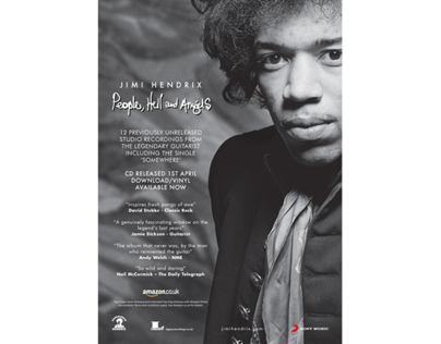 Jimi Hendrix Catalogue Press Campaign