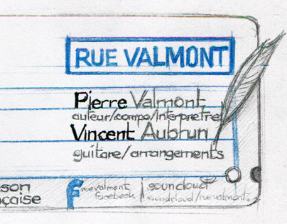 RUE VALMONT - carte de visite / business card
