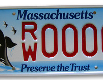 Right Whale license plate for Massachusetts