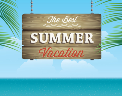 Summer greeting card design
