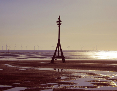 Crosby Beach - Sunset (BTEC ED in Art & Design FMP)