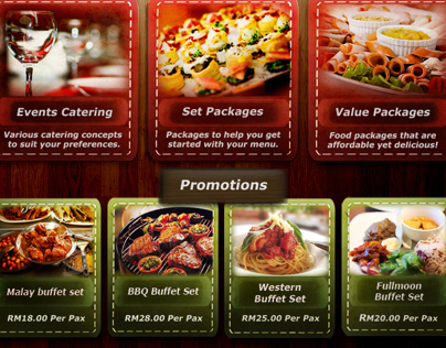 Caterers Website Re-design