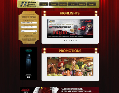 Golden Screen Cinema Website Re-design
