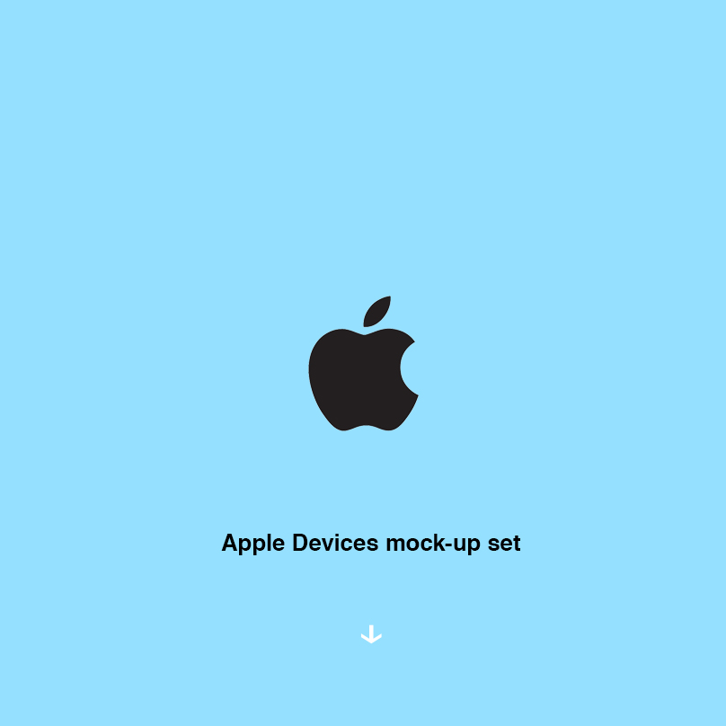 Apple devices mock-up