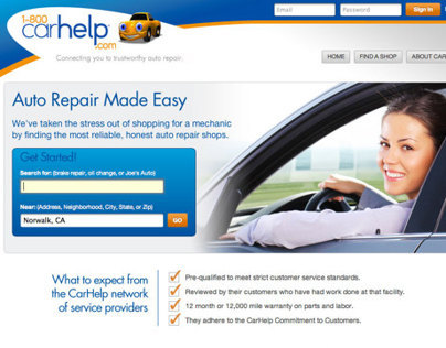 CarHelp Website