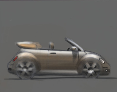 VW Beetle Cabrio painting