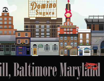 Baltimore Skyline Illustrations
