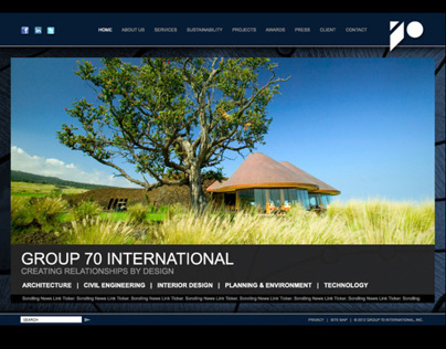 Group 70 International Corporate Website