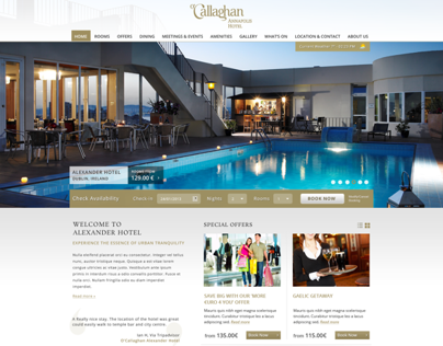 OCallaghan Hotels User Interface Design