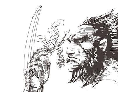 Wolverine with Adobe Ideas