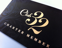 Club 32 Card Design