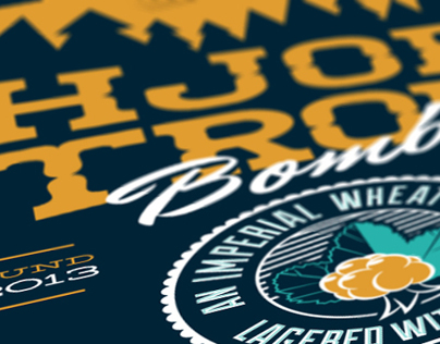 Hjortronbomb | Beer label
