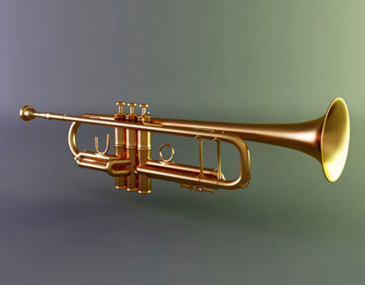 3D Trumpet music instrument