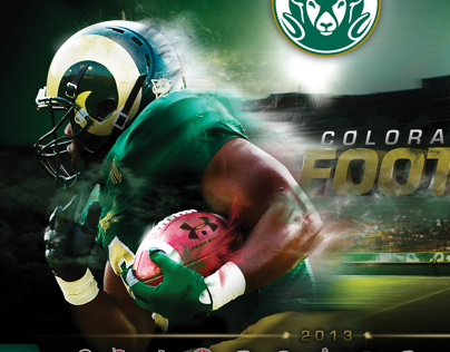 Colorado State Football Schedule Poster
