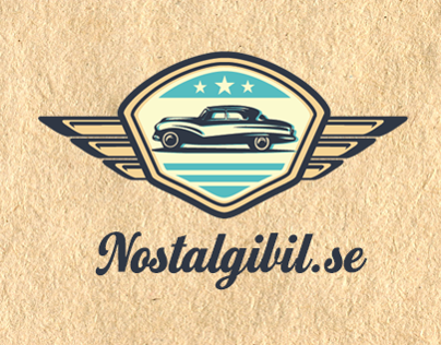 Nosatagibil.se (vintage car sell & buy) logo design