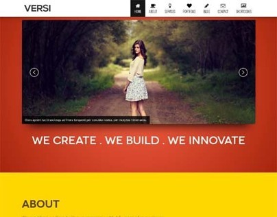 Versi, WordPress Retina Ready OnePage Theme
