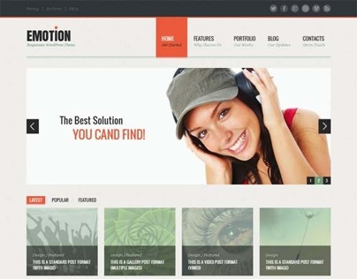 Emotion, Premium WordPress Portfolio Theme
