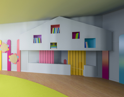 Recovering of a kindergarten room