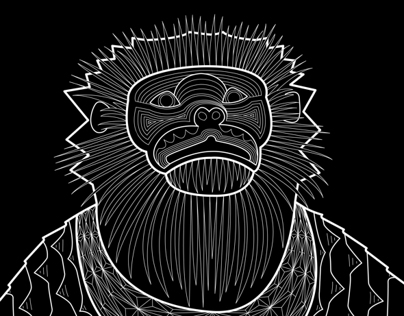 Douc Langur Illustration