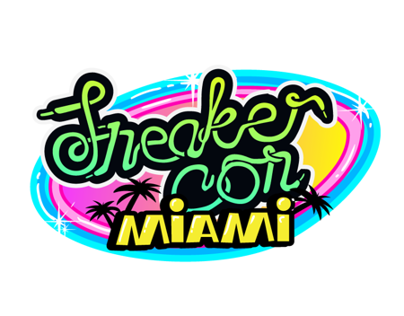 Video of creating Miami Sneaker Con flayer