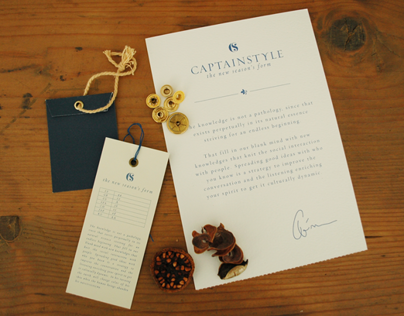 Captainstyle fashion brand identity