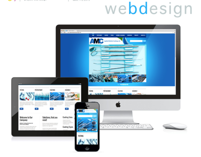 Responsive Web Design for Applied Medical Coatings, LLC