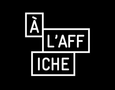 À LAffiche: Exhibition Branding