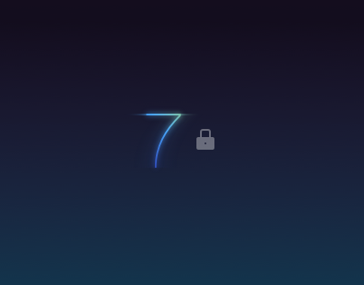 iOS 7 Lock Screen Redesign