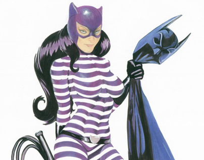 Catwoman in Contours
