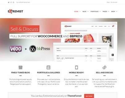 Extremist, WordPress Responsive Multipurpose Theme