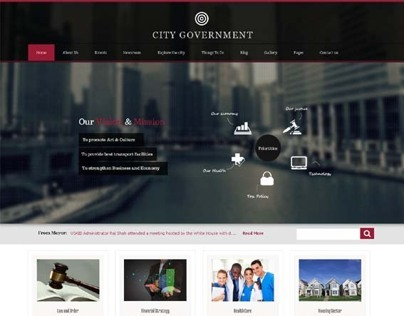 City Government, WordPress Responsive Retina Theme