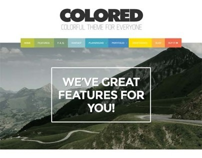 Colored, Premium WordPress Portfolio Theme