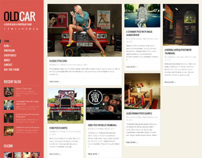 OldCar, WordPress Responsive Blog Grid Theme