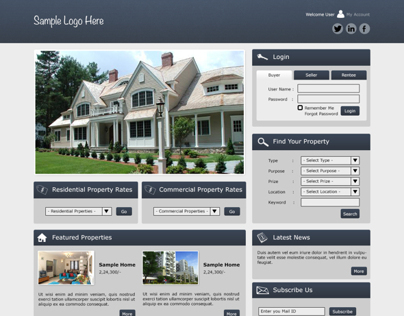 Real Estate Website.