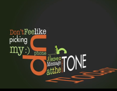 Kinetic Typography Lazy Song by Bruno Mars