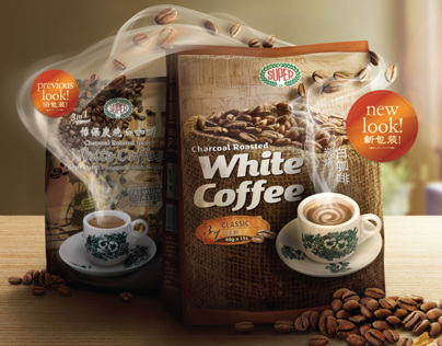 Super Charcoal Roasted White Coffee Pack Change