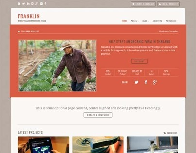 Franklin, WordPress Premium Crowdfunding Theme