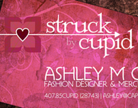 Struck by Cupid Business Card