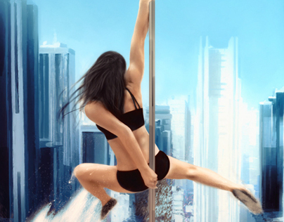 Pole dance over the city - Speed
