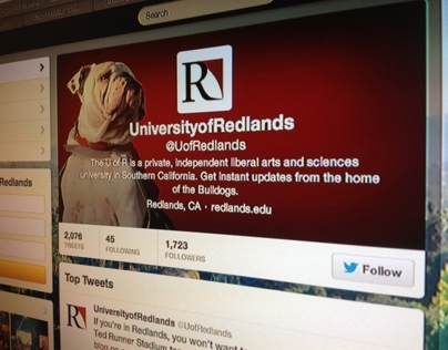 University of Redlands Twitter Profile Design