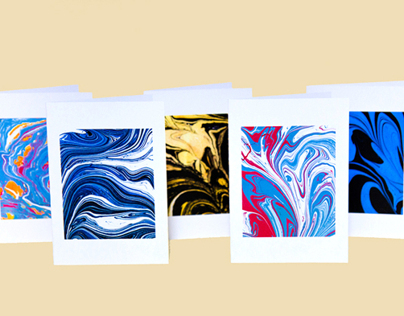 Marbling Greeting Cards