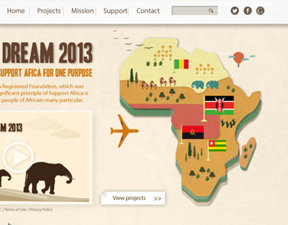 Fedex - AFRICA DREAM 2013 website concept