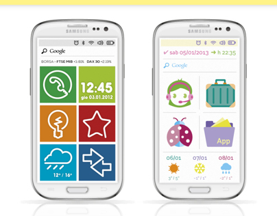 Android smartphone UI + Icon sets: One-line / Kawaii