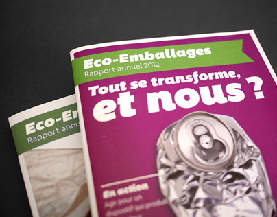 Eco-Emballages Annual Report 2012 (Project)