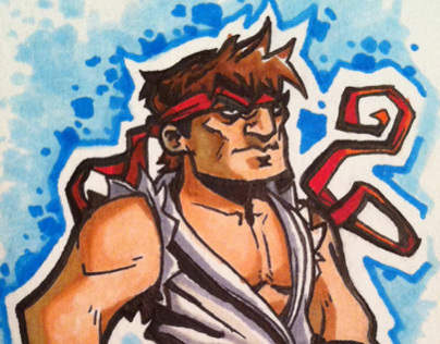 Street Fighter Marker Sketch Cards